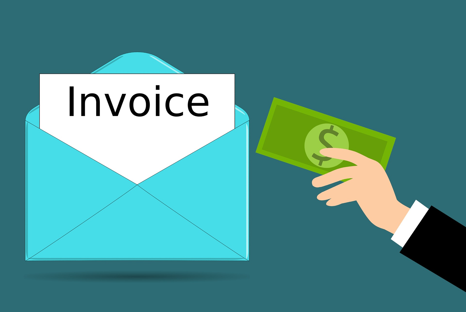 paying for an invoice
